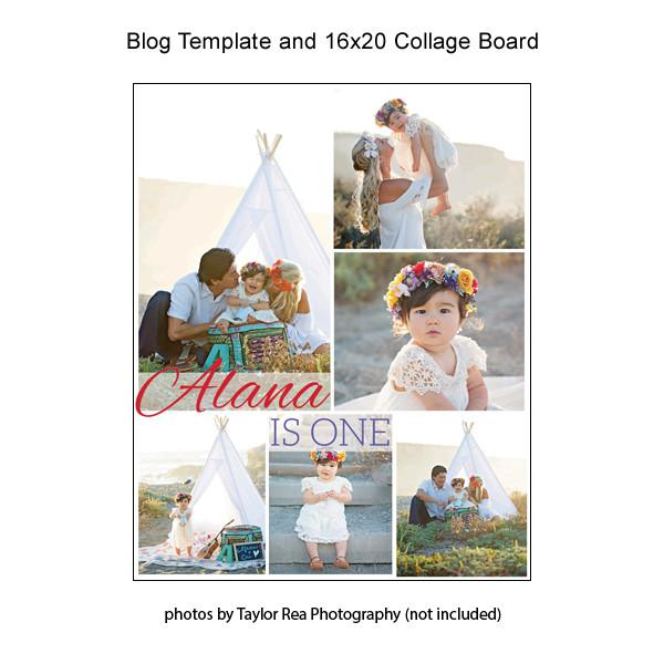 Blog Template And 16x20 Collage Board 10