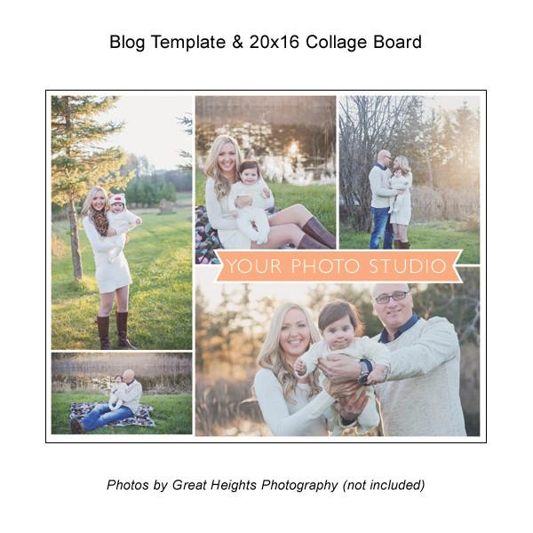 Blog Template And 20x16 Collage Board 02