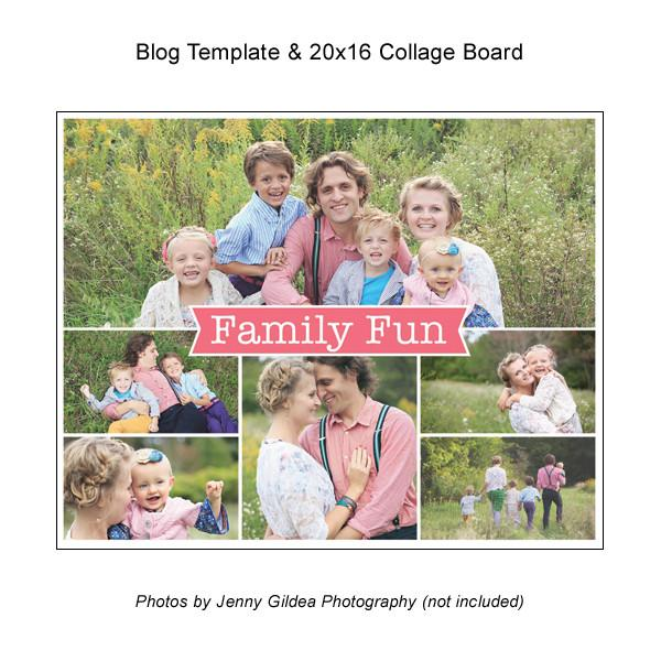 Blog Template And 20x16 Collage Board 03