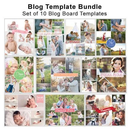 Bundle - Photographer Blog Board Template Bundle