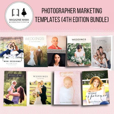 Photographer Marketing Templates by Magazine Mama (Photographer Welcome Packets)