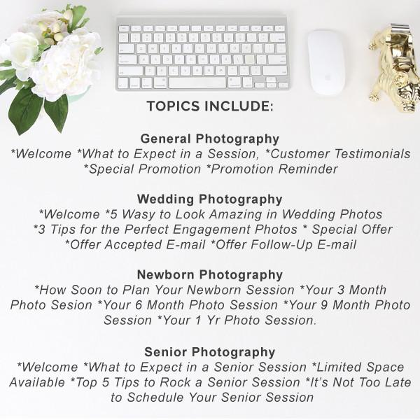 Bundle - Set Of 21 Pre-Written Photography E-mails