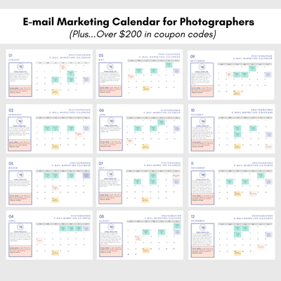 E-mail Marketing for Photographers Calendar