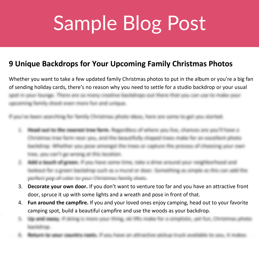 Family Photography Blog Posts for the Holidays