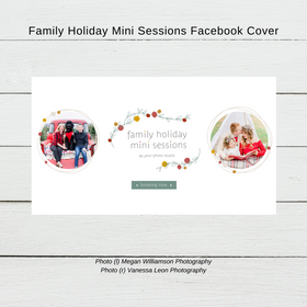 Facebook Cover Template - Holiday Mini Sessions