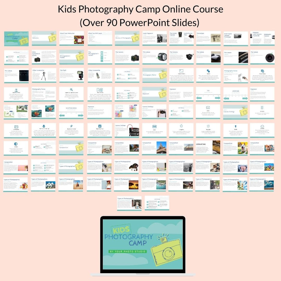 Teach Kids Photography Camp Online
