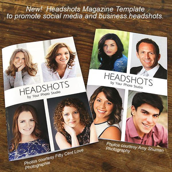 Mini-Magazine - Headshots Magazine Template