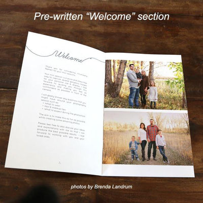 Mini-Magazine - Mini Session Welcome Guide Template