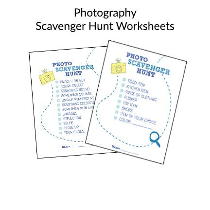 Photo Scavenger Hunt Worksheets for Kids