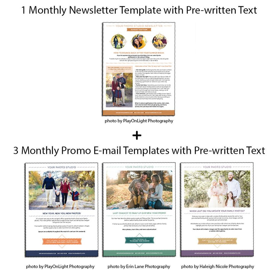 Photography E-mail Newsletter Templates - January