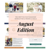 Photography Newsletter Ideas Templates - August