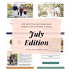 Photography Newsletter Ideas Templates - July