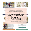 Photography Newsletter Ideas Templates - September
