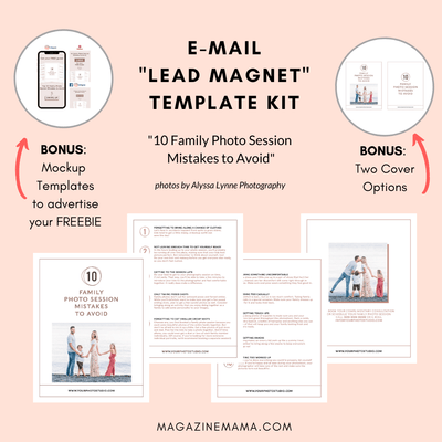 Photographer Lead Magnet Template Kit