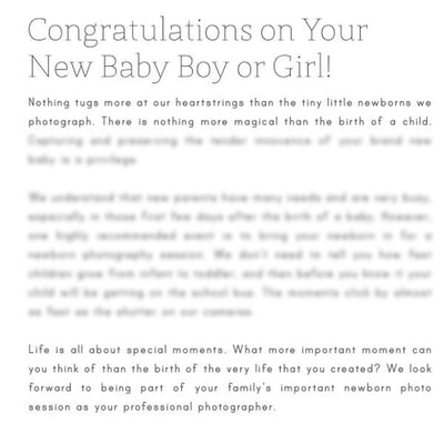 Pre-Written Photography Articles - Vol. 3 - Newborn Photography