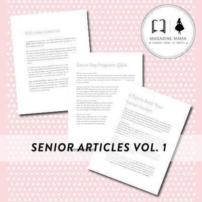 Senior Photographer Marketing Pre-Written Articles Bundle (Set of 12)