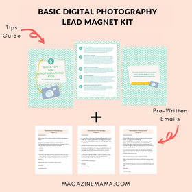 Basic Photography Lead Magnet Kit for Teaching Photography Online