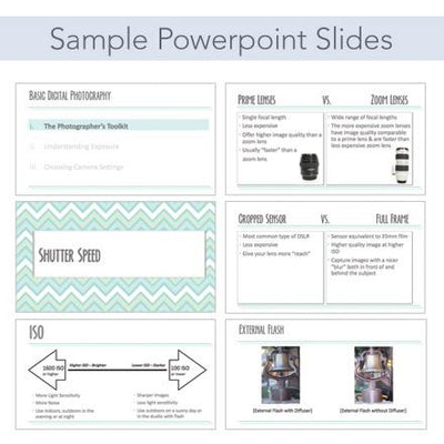 Sample Slides of Powerpoint for Teaching Photography