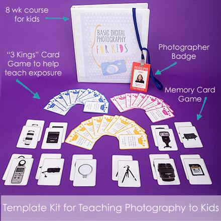 Photography for Kids is a digital curriculum to teach photography classes for kids