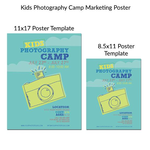 Kids Photography Camp Marketing Posters
