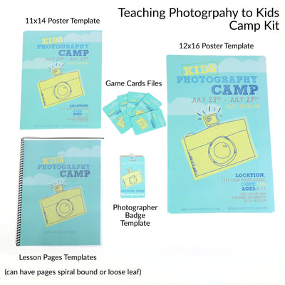 Teaching Kids Photography Camp Curriculum Bundle