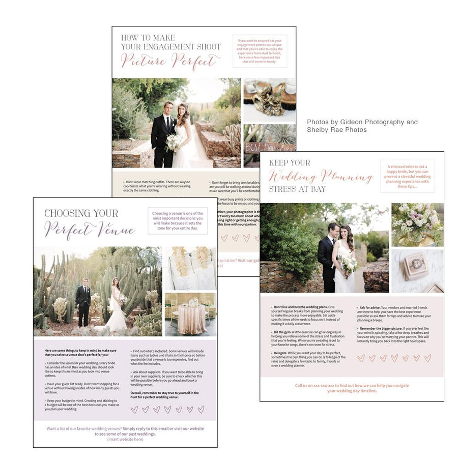 Wedding Photography Newsletter Template Vol. 1 Issue 1