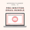 Pre-written E-mail Autoresponders (Set of 5) Wedding Planner