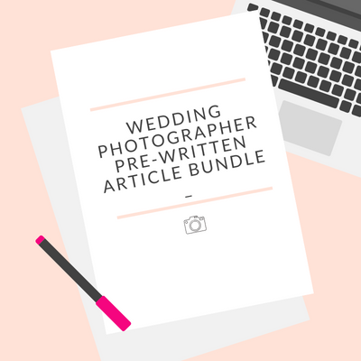 Wedding Photography Text (Set of 17 Articles)