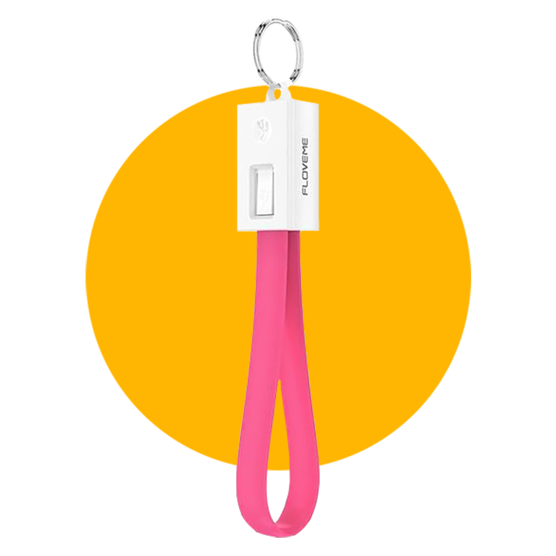 USB Keychain Charging Cable COLOR V