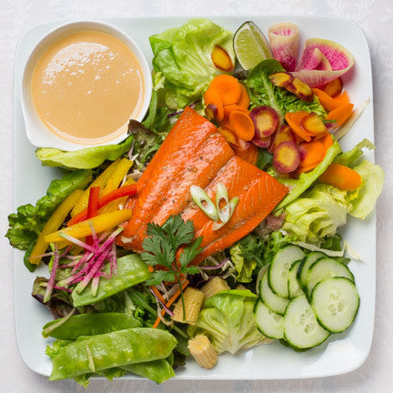 Asian Smoked Salmon Salad