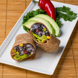 Gluten Free Black Bean Avocado Wrap