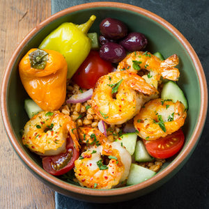 Mediterranean Shrimp Bowl