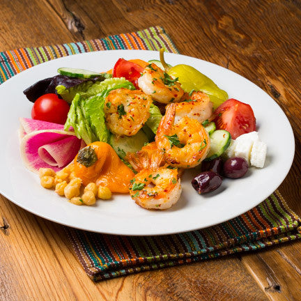 Greek Grilled Shrimp Salad