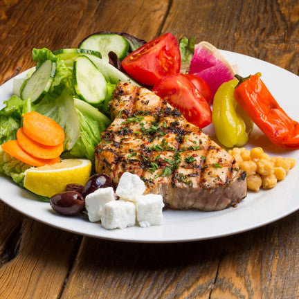Greek Grilled Tuna Salad