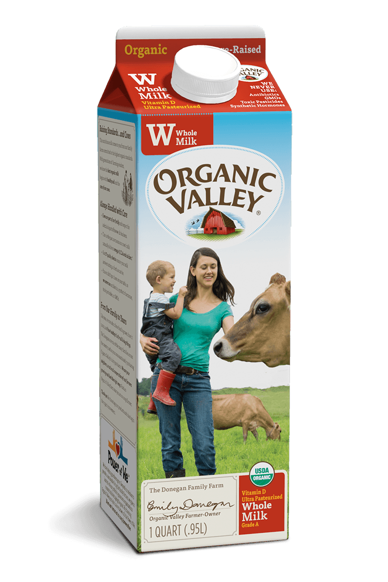 Organic Valley Whole Homogenized Milk 1/2 Gallon