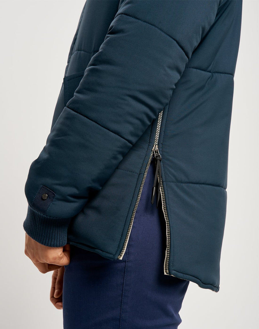 Malin Reversible Light Jacket - Navy and Sand