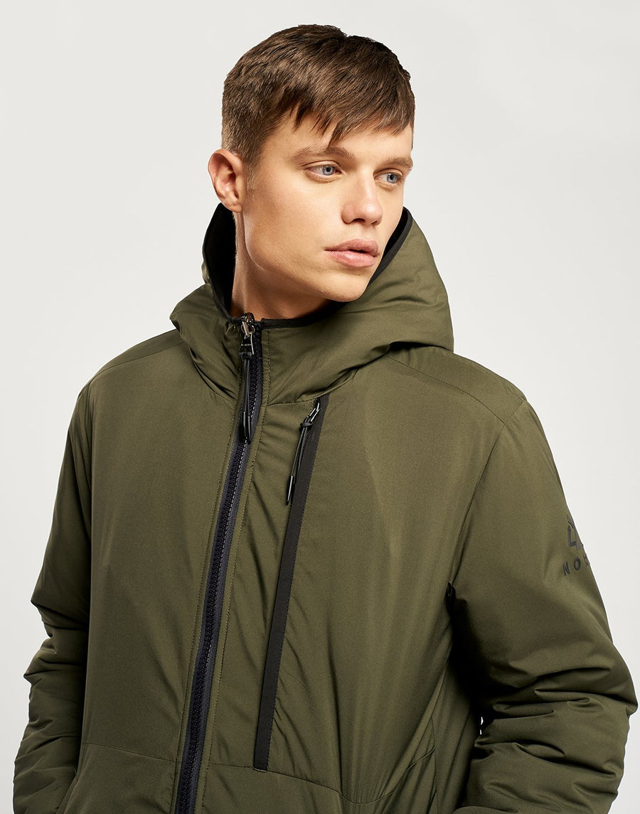 Jensen Reversible Jacket - Charcoal and Khaki