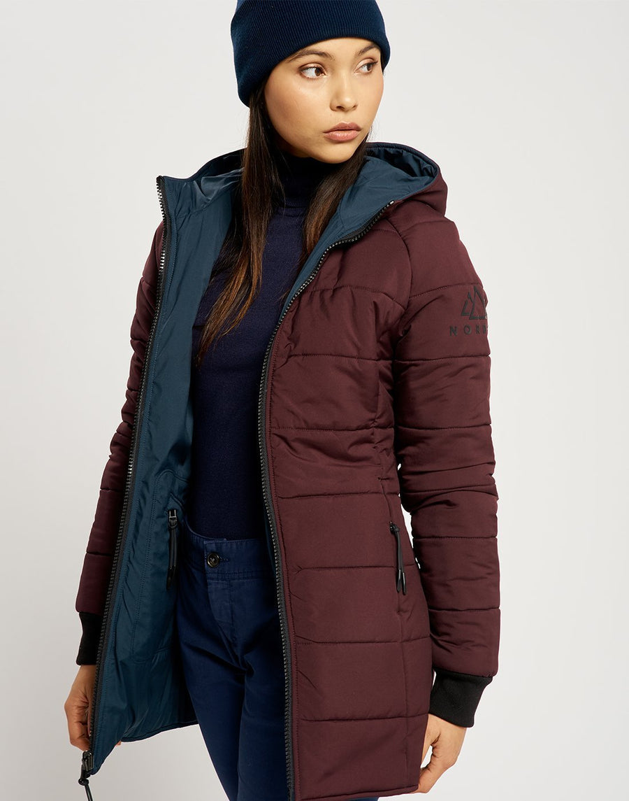 Saskia Reversible Jacket - Navy and Burgundy
