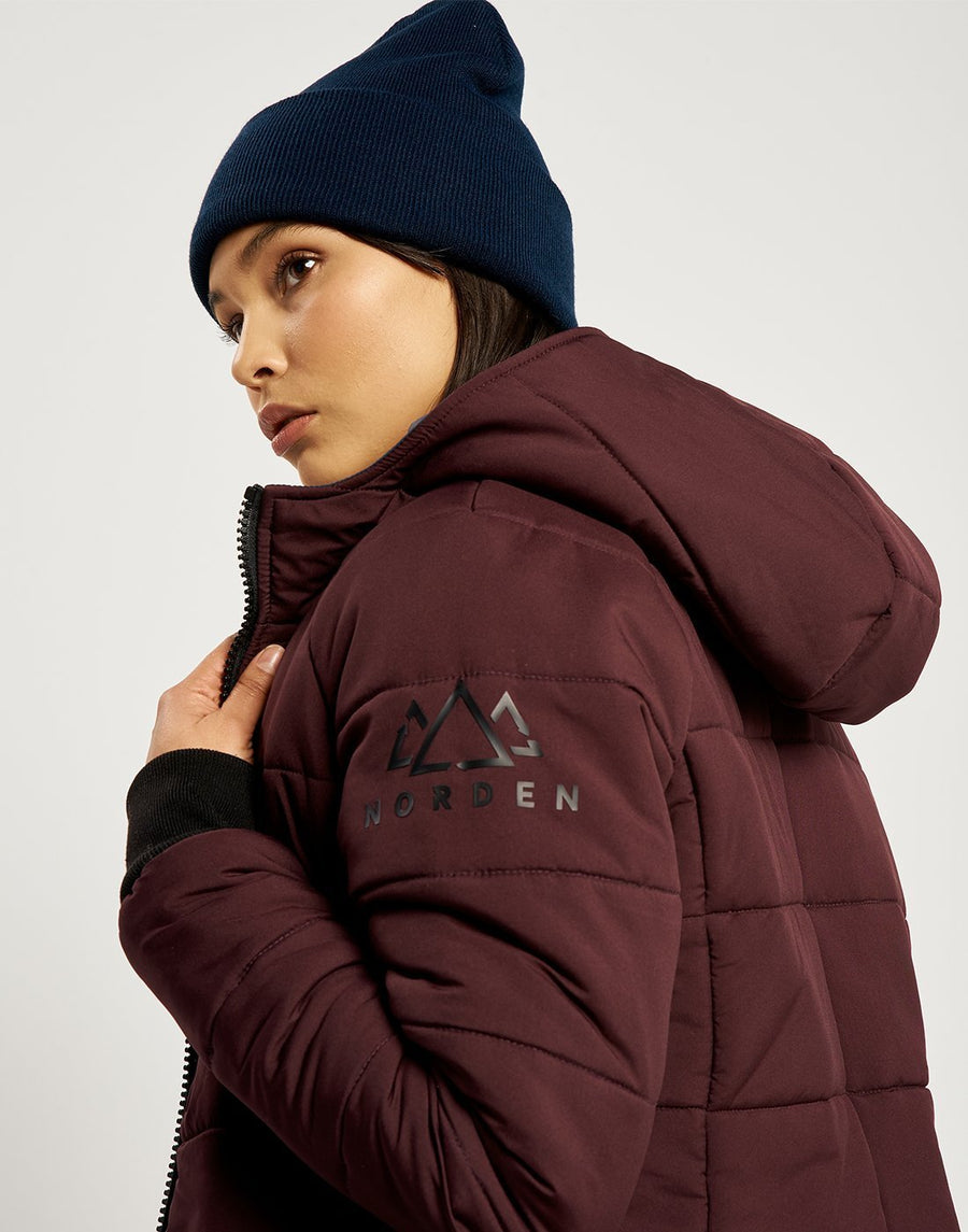 Saskia Reversible Light Jacket - Navy and Burgundy