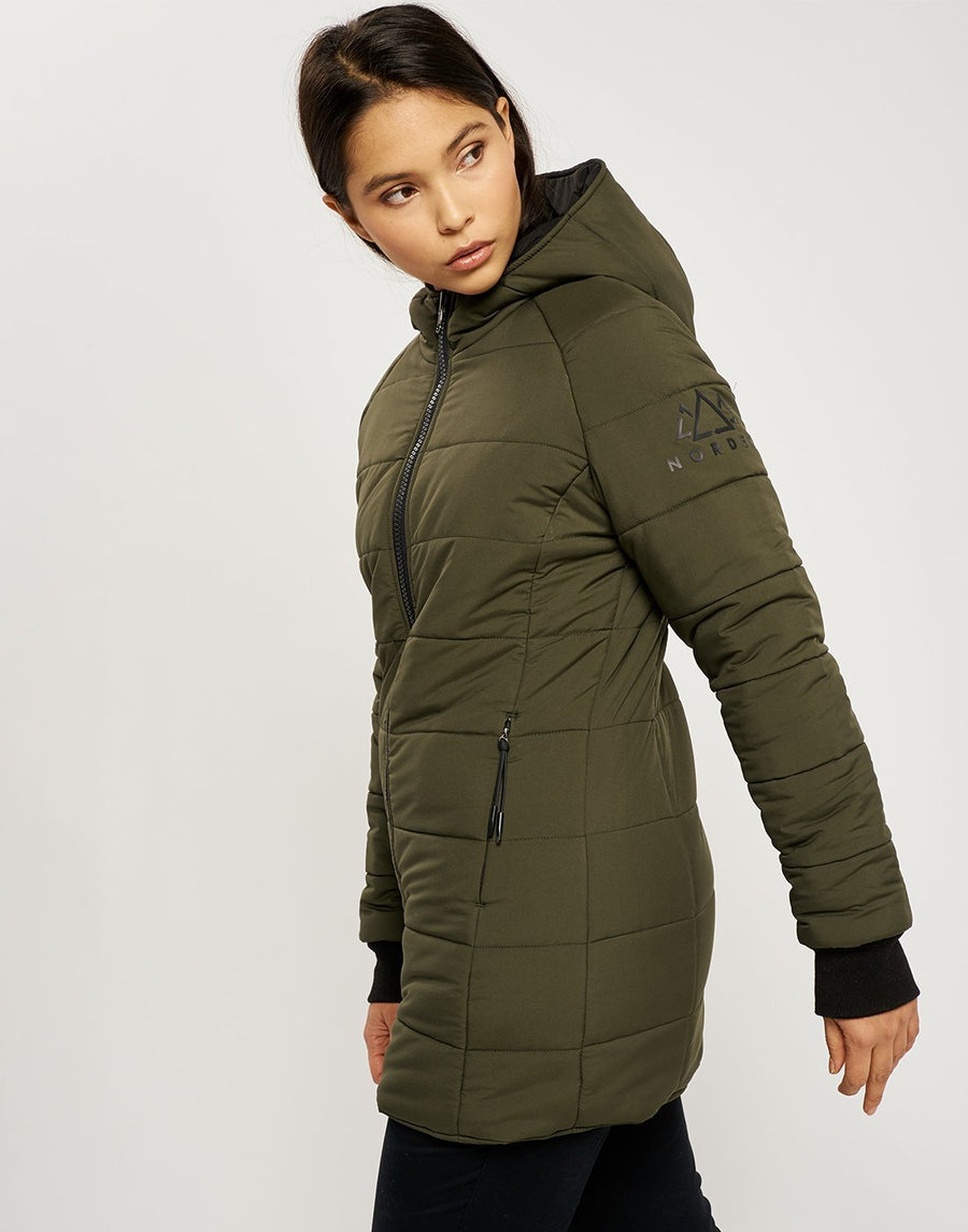 Saskia Reversible Light Jacket - Black and Khaki