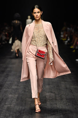 Pink Suiting Interpreter Trench