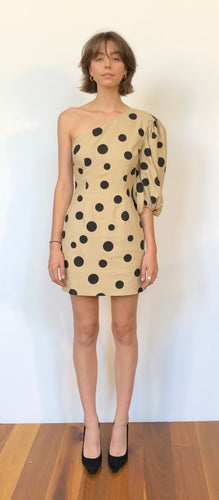 One Spot Mini Dress - Beige