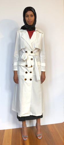Gadget Trench Long - White