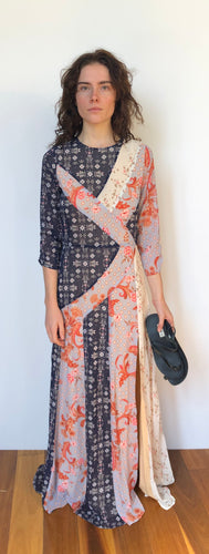 Evelyn Spliced Maxi Dress in Kaleidoscope