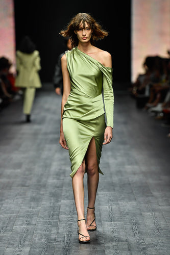 Style Code Asymmetric Dress in Pistachio