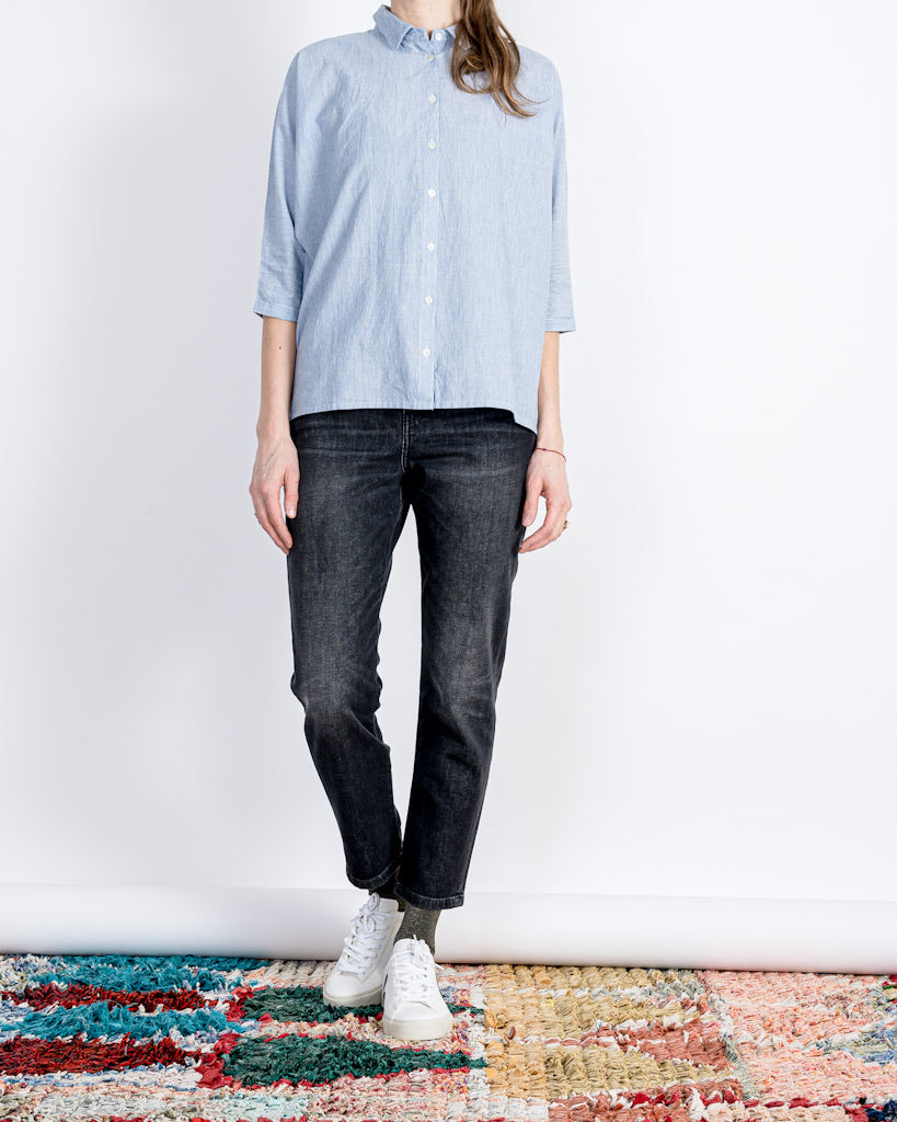 by-bar amsterdam // Bluse Norel Pin Stripe Indi Grey