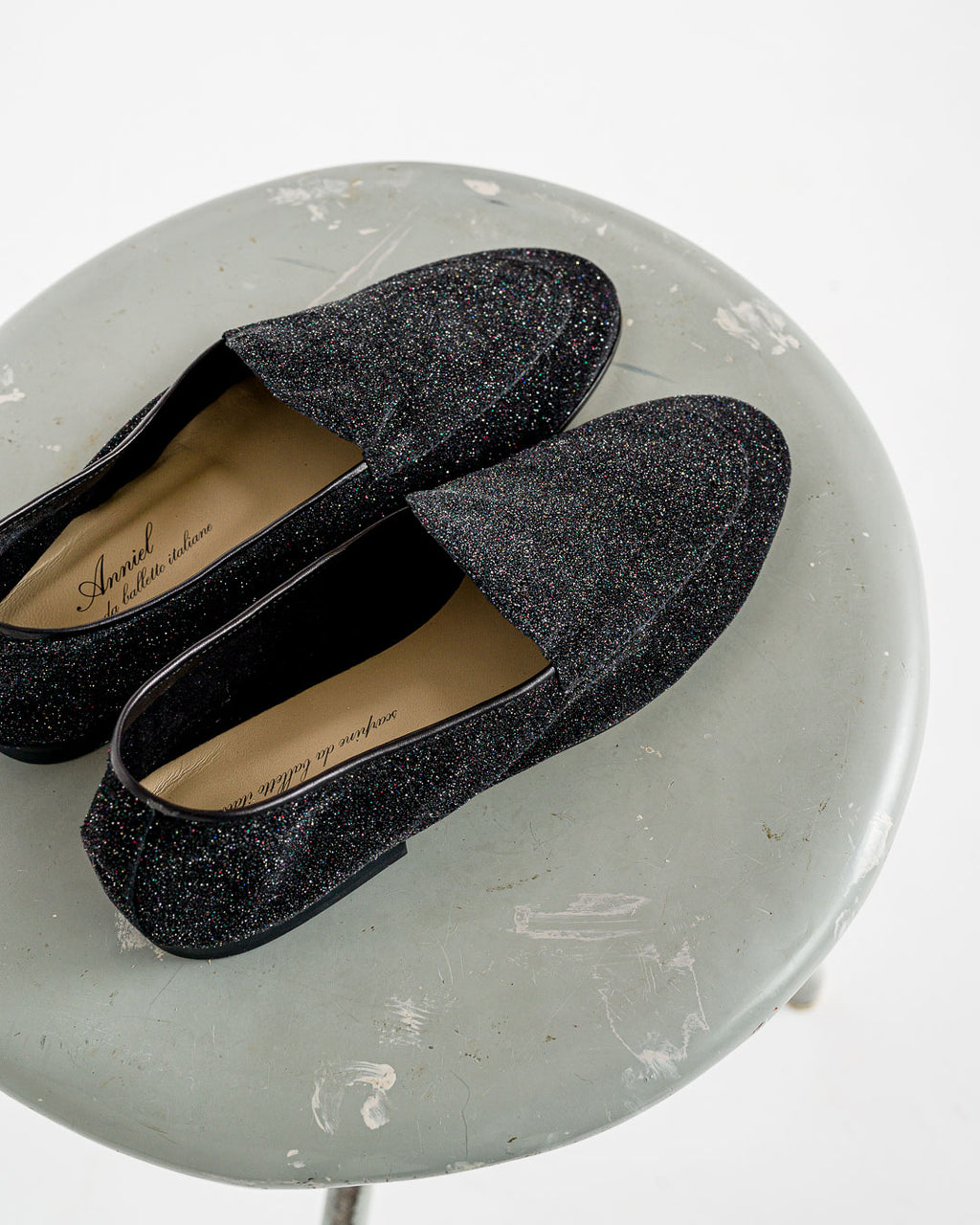 Anniel // Loafer Black Glitter