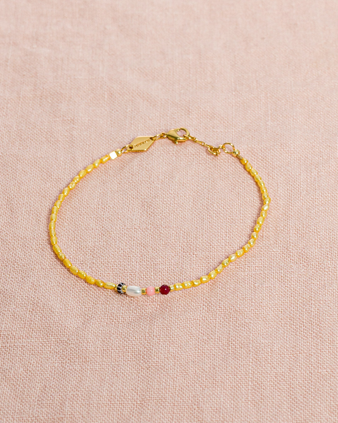 Anni Lu // Armband Rice & Shine Yellow Cream