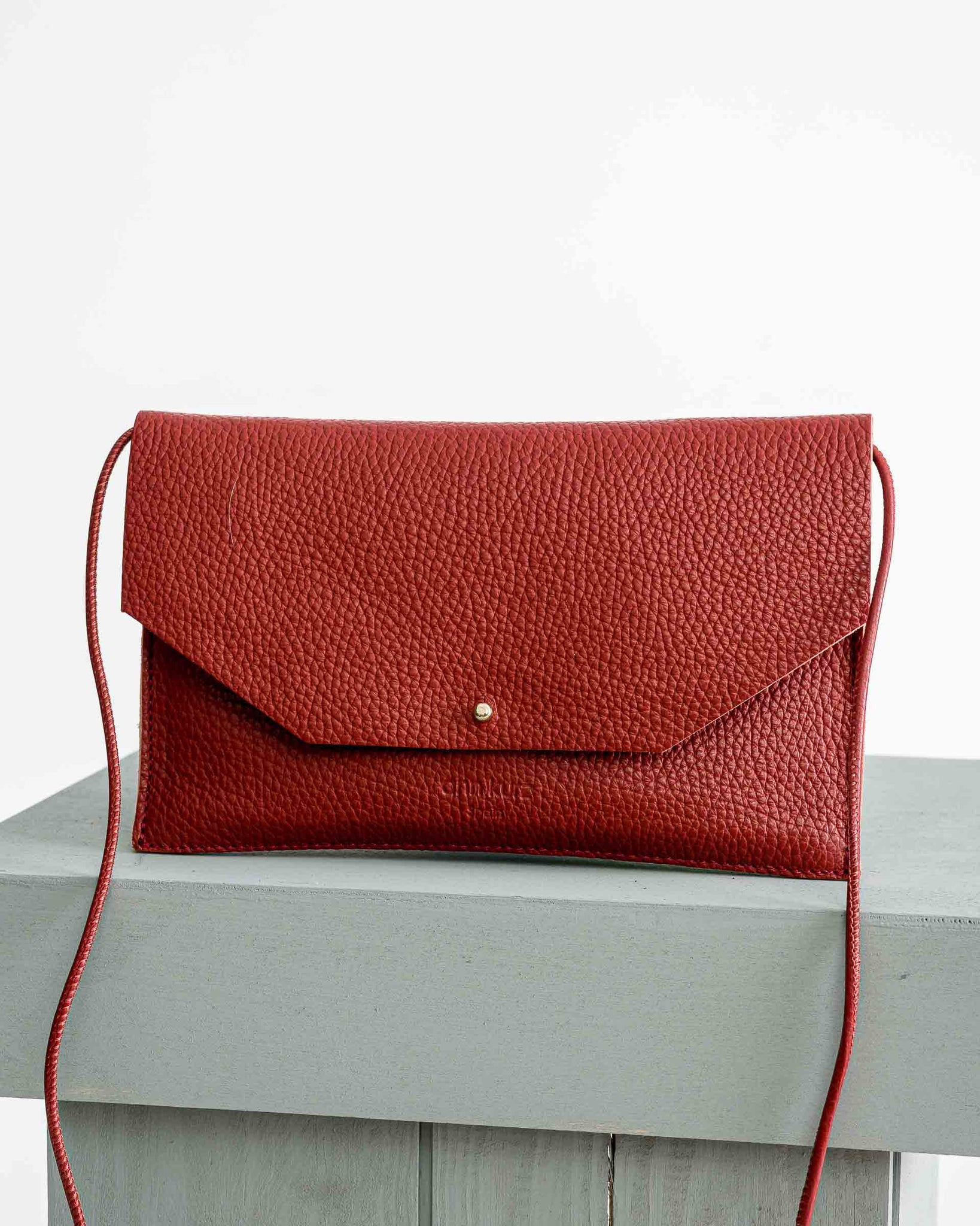 Ann Kurz // Mia Envelope Grained Lobster Purse