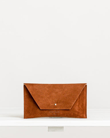 Ann Kurz // Purse Mini Mia Suede Libano Brown